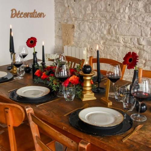 Halloween, une décoration de table