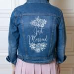 Blouson en jean personnalisé - L'atelier rose blanche