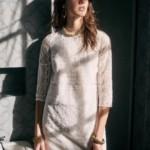 Robe courte manches dentelle - Sézane