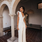 Combi-pantalon blanc pour une cérémonie de mariage civile 2020