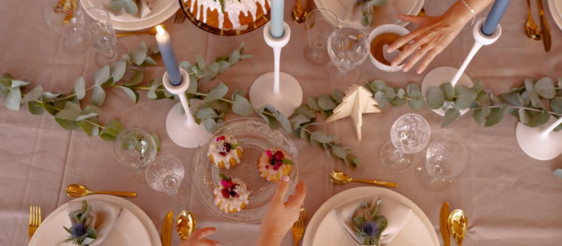 tendance décoration table de noel